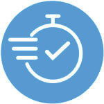 Express Testing Services (clock with checkmark)
