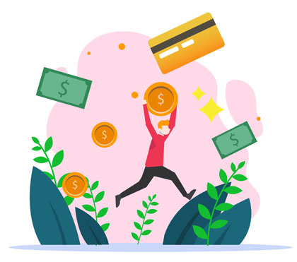 QA Tester Salary (cartoon QA tester holding money)