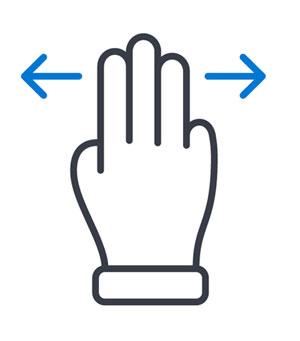 Manual QA Testing (hand icon with arrows swiping)