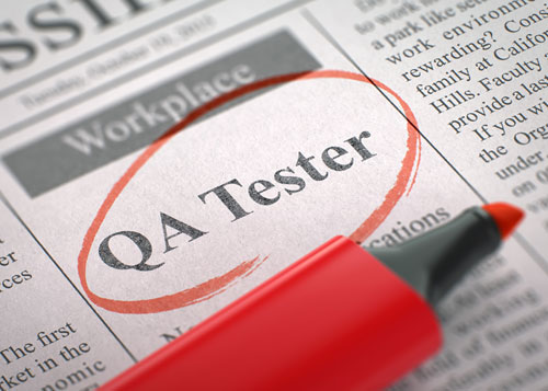 Software QA Testing Job (circled job posting title)