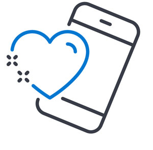 Types of Software Testing (mobile phone with heart icon)