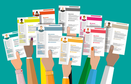 How to Write a QA Tester Resume (picture of hands holding up resumes)