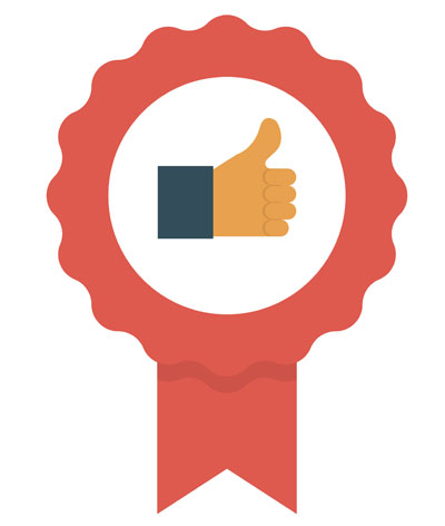 Customer Success and QA (award icon with thumbs up icon)