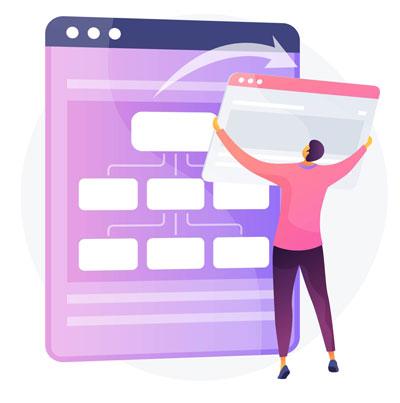 QA tester using a bug report ticket management website